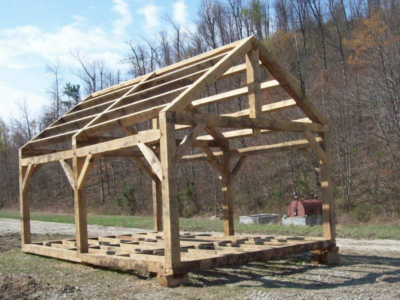 Shelterhouse Timberframe Cut By The Inmates With My Plans After The  Workshop On Their Own. Nice Work Fellows!!! Part 54