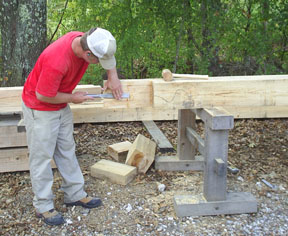 but even with the big power tools on a hand cut timber frame there is always plenty of opportunity to use your timber framing chisel and mallet