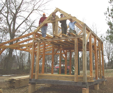 Timber frame workshop for Design and build your own shed